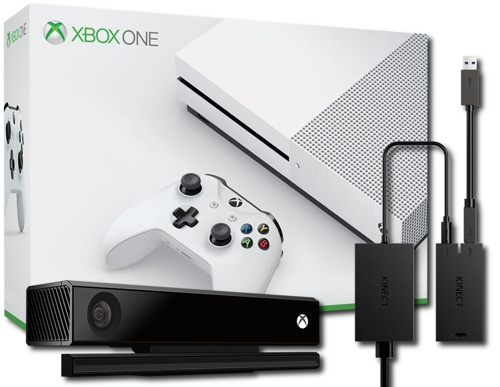 Konsola Xbox One S 1 TB + Kinect 2.0 + Adapter